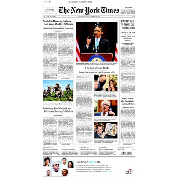 Newspapers New York Times Sunday Edition