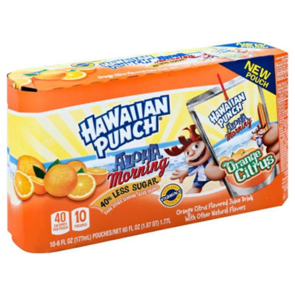 Hawaiian Punch Aloha Morning Orange Citrus Regular Juice Drink