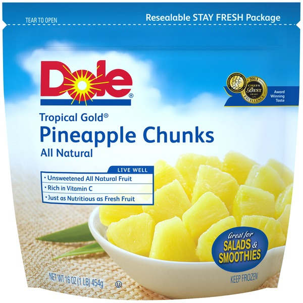 Dole Tropical Gold Chunks All Natural Pineapple