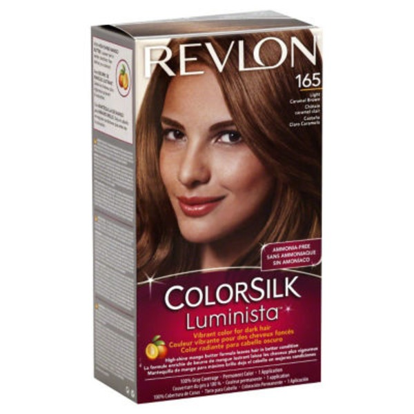 Revlon Colorsilk Luminista  Light Caramel Brown 165 Permanent Hair Color