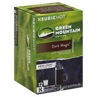 Green Mountain Coffee K-Cup Pods Dark Roast Extra Bold Dark Magic - 12