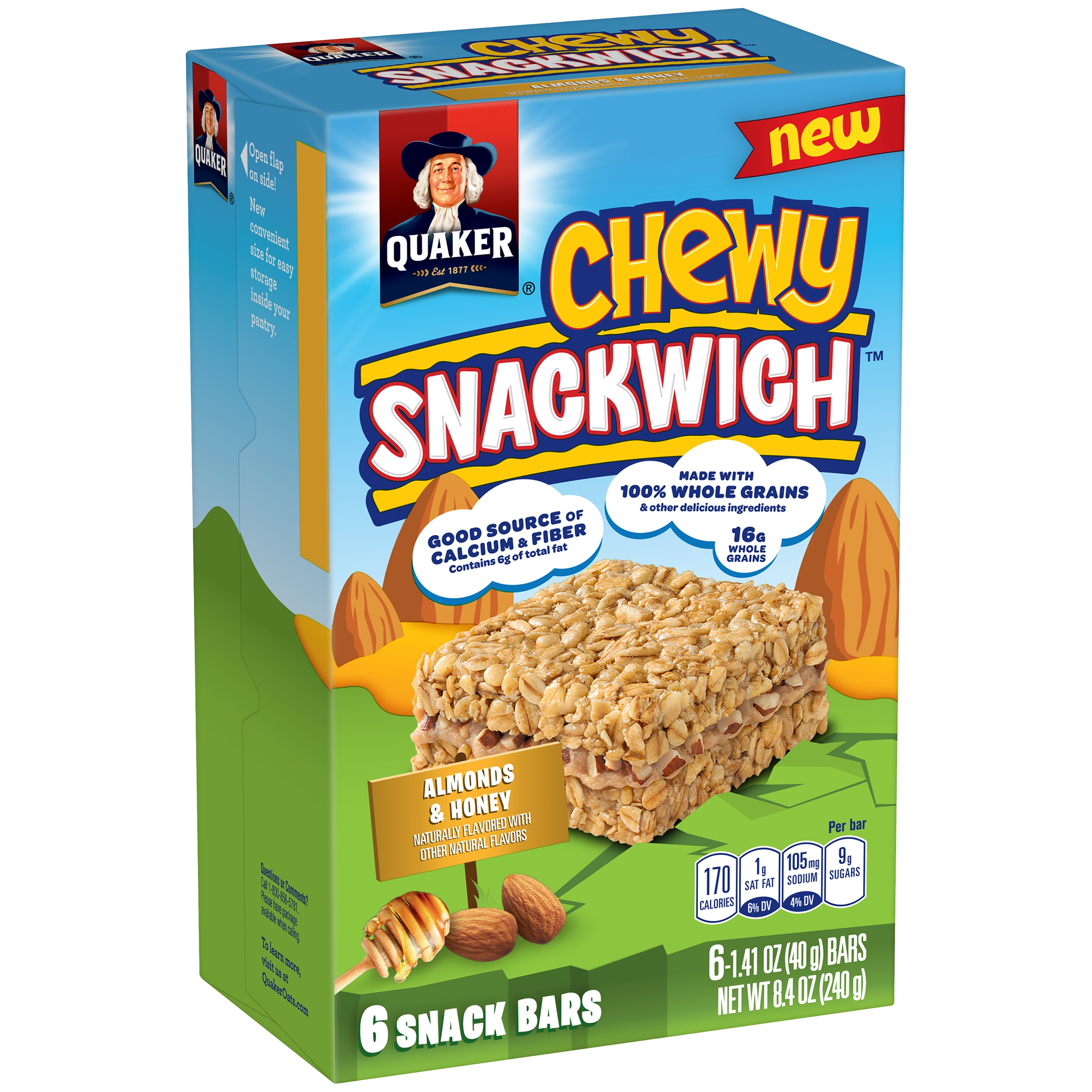 Quaker Chewy Snackwich Almonds & Honey Snack Bars