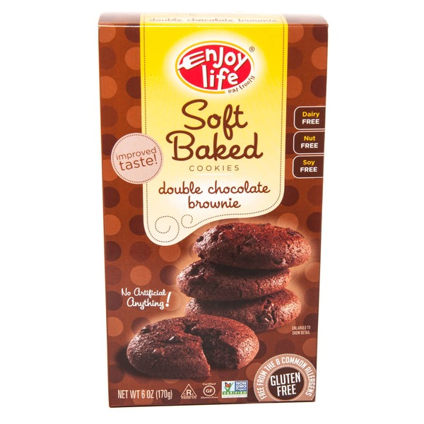 Enjoy Life Soft Baked Cookies Double Chocolate Brownie