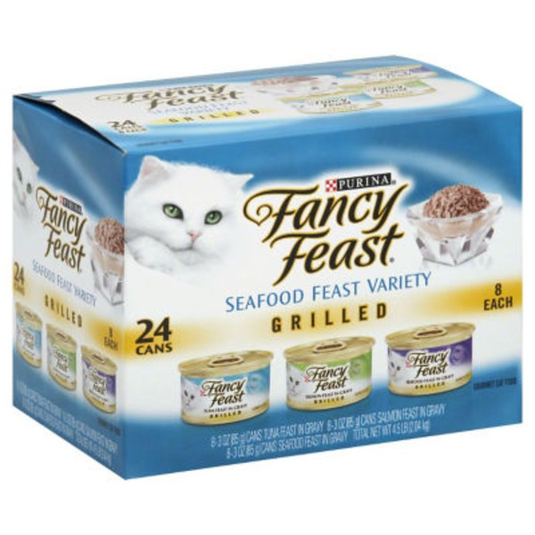 Fancy Feast Wet Grilled Seafood Feast Variety Cat Food