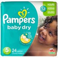 Pampers Baby Dry Diapers, Size 5 (27+ lbs)