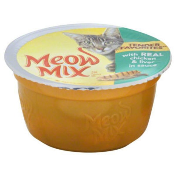 Meow Mix Tender Favorites with Real Chicken & Liver in Sauce Wet Cat Food