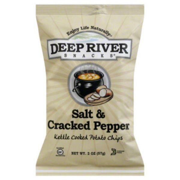 Deep River Snacks Potato Chips, Salt & Cracked Pepper, Kettle Cooked
