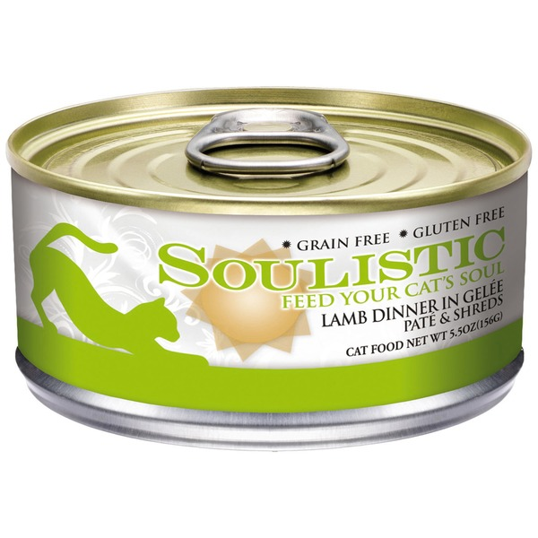 Soulistic Grain Free Gluten Free Lamb Dinner in Gelee Pate & Shreds Cat Food