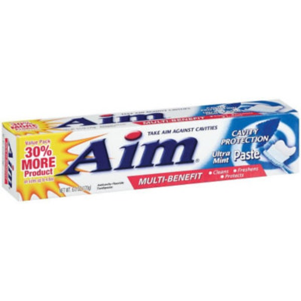 Aim Multi-Benefit Cavity Protection Ultra Mint Paste Toothpaste