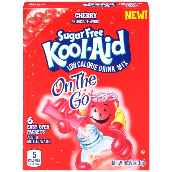 Kool-Aid On the Go Sugar Free Cherry Low Calorie Soft Drink Mix