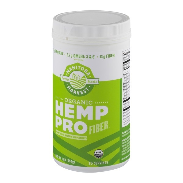 Manitoba Harvest Organic Hemp Pro Fiber Plant Based Protein Supplement