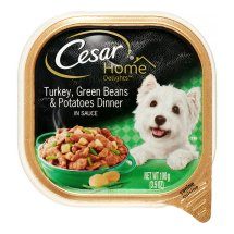 Cesar Home Delights Turkey, Green Beans, & Potatoes Wet Dog Food Trays, 3.5 Oz