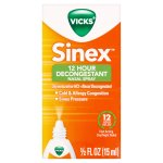 Vicks Sinex 12 Hour Decongestant Nasal Spray, 0.5 FL OZ