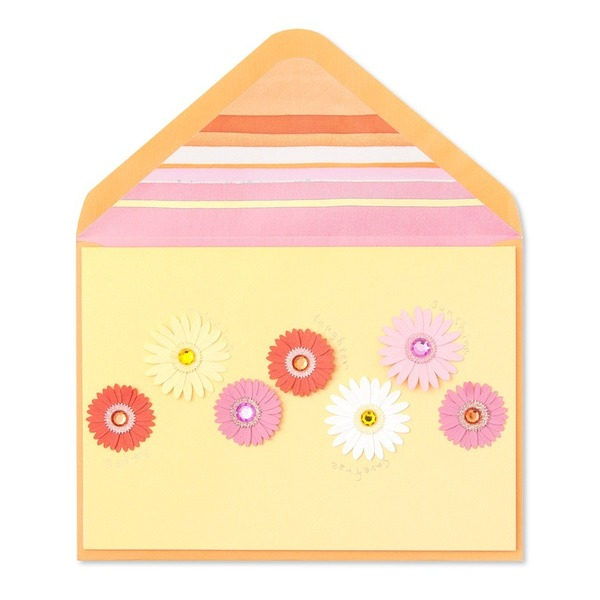 Papyrus Birthday Card - Paper Flowers With Gems