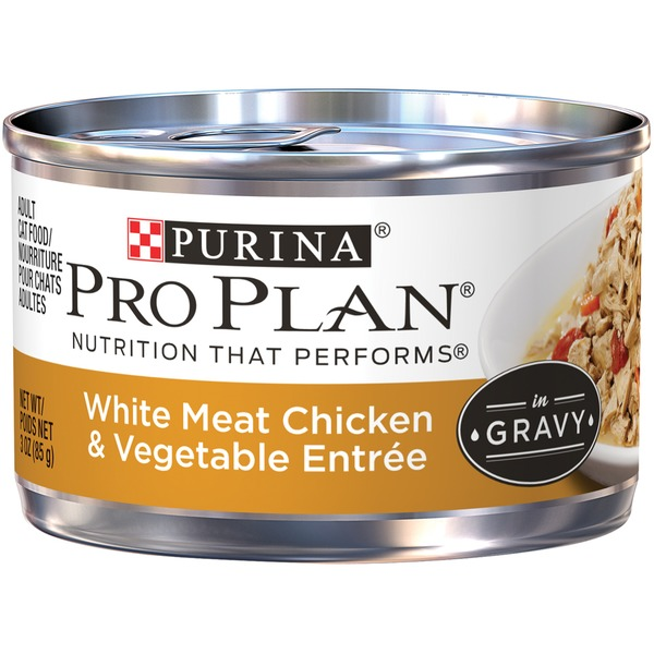 Pro Plan Cat Wet Adult White Meat Chicken & Vegetable Entree in Gravy Cat Food