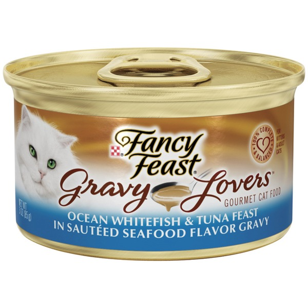 Fancy Feast Gravy Lovers Ocean Whitefish & Tuna Feast in Sauteed Seafood Flavor Gravy Cat Food