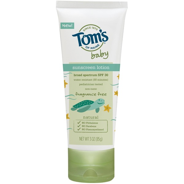 Tom's of Maine Fragrance Free Baby Sunscreen Spf 30