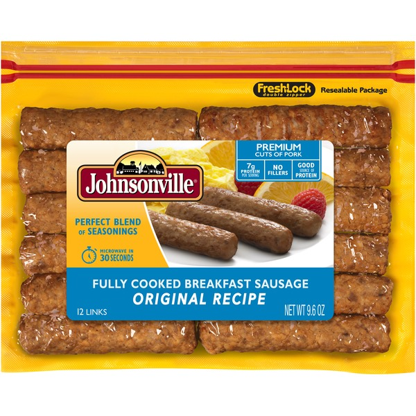 Johnsonville Fully Cooked Breakfast Sausage Original Recipe