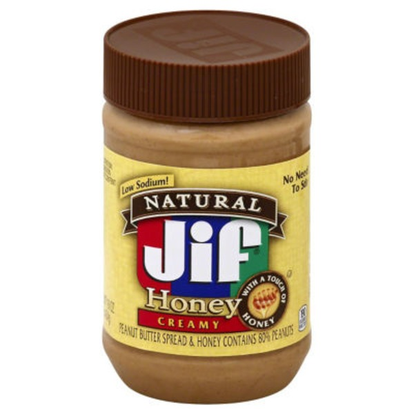 Jif Natural Honey Peanut Butter Creamy
