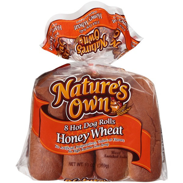 Nature's Own Honey Wheat Hot Dog Rolls