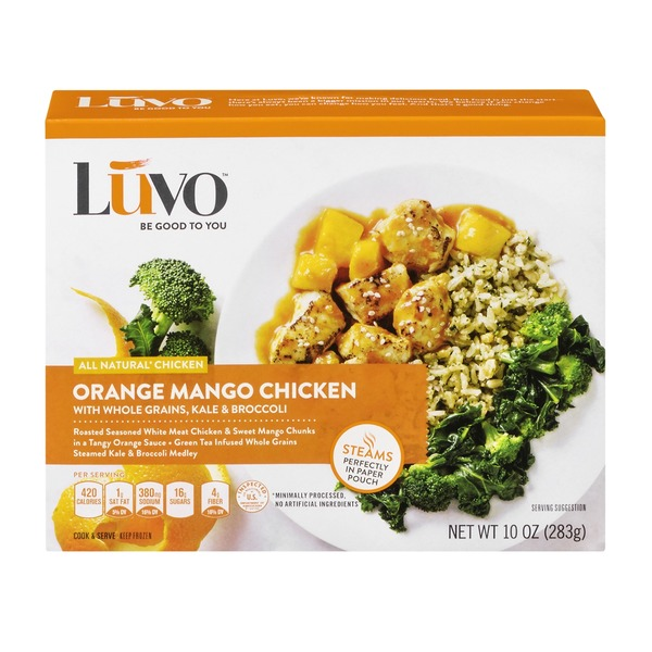 Luvo Orange Mango Chicken with Whole Grains, Kale & Broccoli