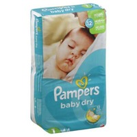 Pampers Baby Dry Pampers Baby Dry Newborn Diapers Size 1 44 Count Diapers