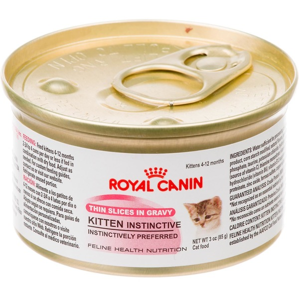 Royal Canin Feline Health Nutrition Kitten Instinctive Thin Slices in Gravy Cat Food