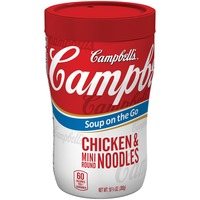 Campbell's Soup On The Go Chicken & Mini Round Noodles Soup