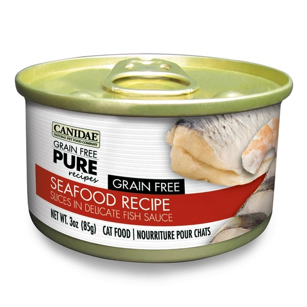 Canidae Grain Free Pure Recipes Seafood Canned Cat Food 3 Oz.