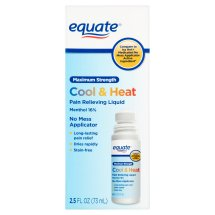 Equate Maximum Strength Cool & Heat Pain Relieving Liquid, 2.5 Oz
