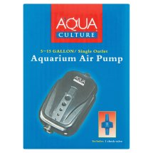 Aqua Culture 5-15 Gallon / Single Outlet Aquarium Air Pump