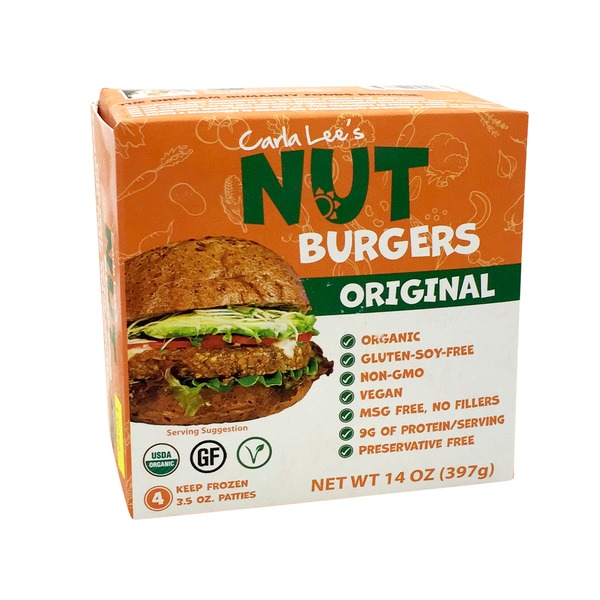 Carla Lee's Original Nut Burger Vegan Gluten Free