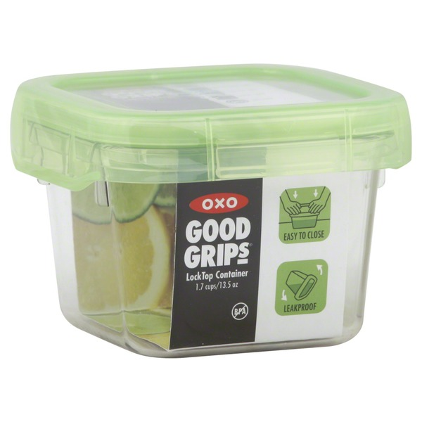 OXO Container, Lock Top, 1.7 Cups/13.5 Oz, Green