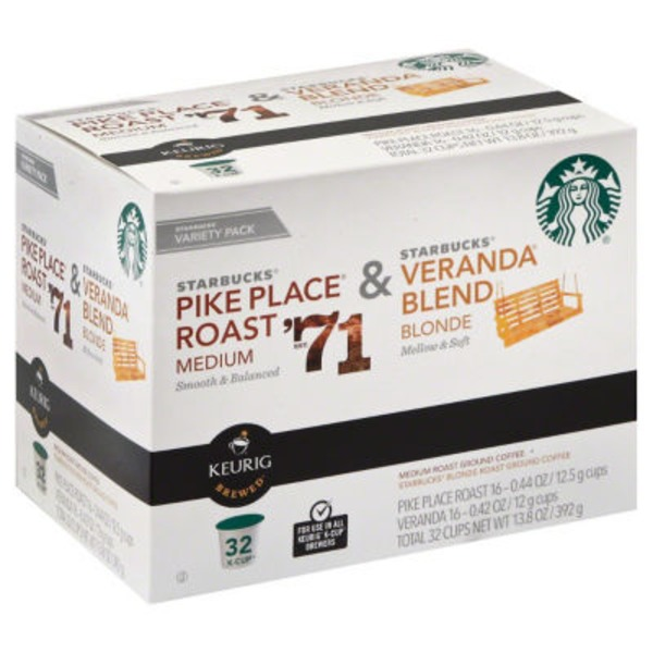 Starbucks Pike Place Roast & Veranda Blend Variety Pack Coffee
