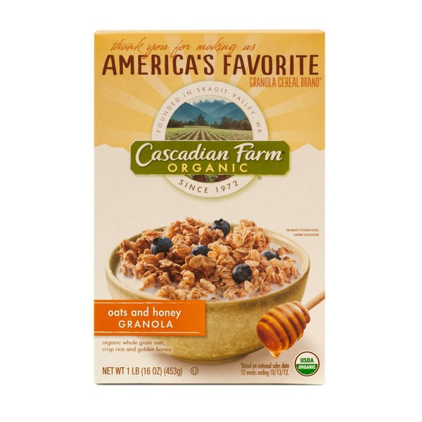 Cascadian Farm Organic Oats & Honey Granola