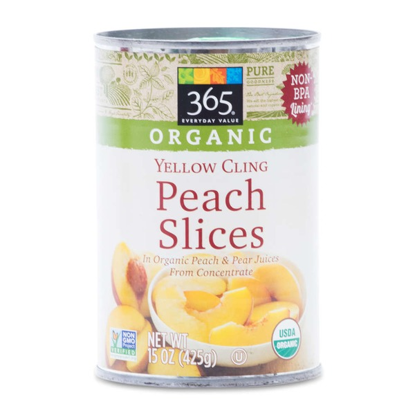 365 Organic Yellow Cling Peach Slices