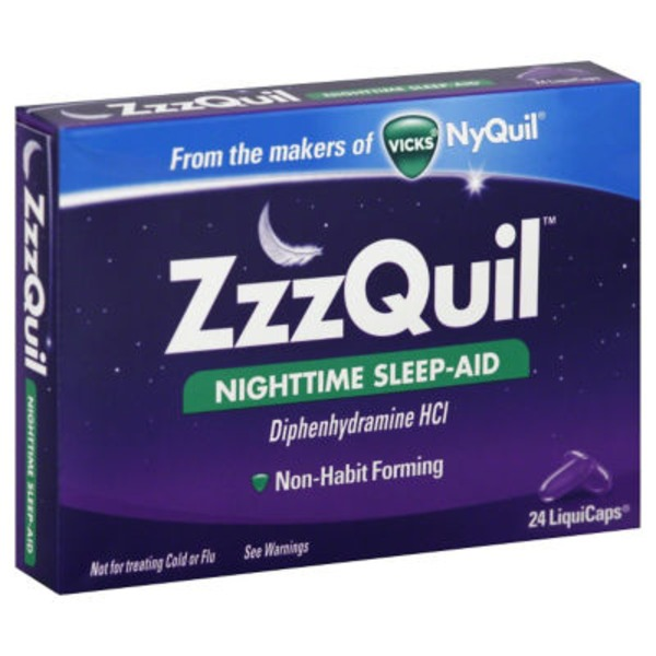 Zzzquil Nighttime Sleep Aid LiquiCaps 24 ct (Pack of 24) Misc Personal Health Care