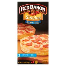 Red Baron® Singles Deep Dish Pepperoni Pizzas 11.20 oz. Box