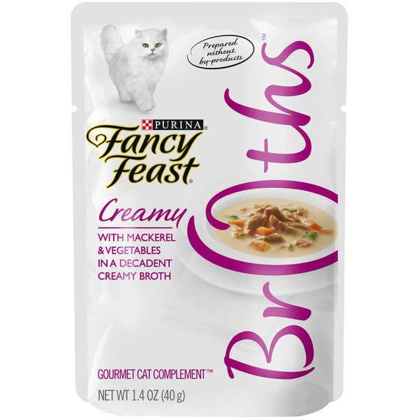 Fancy Feast Broths Creamy with Mackerel & Vegetables Cat Food
