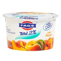 Fage Total 2% with Peach Lowfat Greek Strained Yogurt