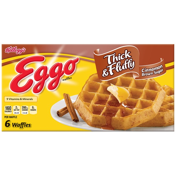 Kellogg's Eggo Thick & Fluffy Cinnamon Brown Sugar Waffles