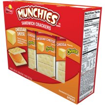 Munchies Cheddar Cheese Sandwich Crackers, 8 Packs