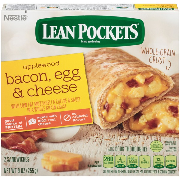 Lean Pockets Bacon, Egg & Cheese Frozen Sandwiches