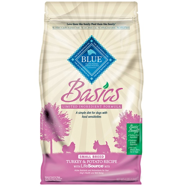 Blue Buffalo Basics Limited Ingredient Formula Small Breed Turkey & Potato Recipe With Lifesource Bits Natural Food for Dogs