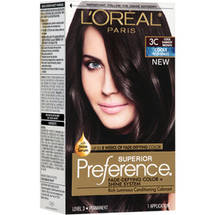 L'Oreal Paris Superior Preference Cools Anti-Brass Hair Color Kit 3C Cool Darkest Brown