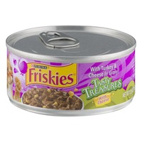 Friskies Tasty Treasures with Turkey & Cheese in Gravy Cat Food
