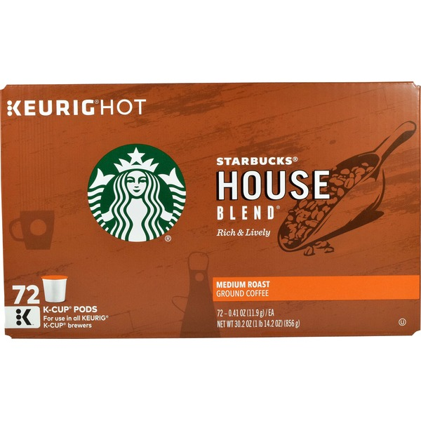 Starbucks House Blend Medium Roast K-Cup Pods Ground Coffee