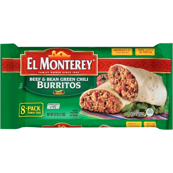El Monterey Beef & Bean Green Chili Burritos