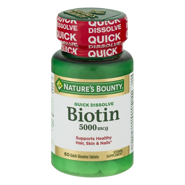Nature's Bounty Biotin 5000 MCG Quick Dissolve - 60 CT