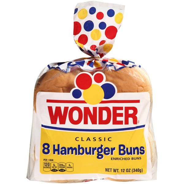 Wonder Bread Classic Hamburger Buns
